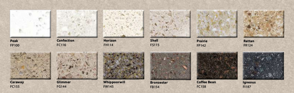 Staron solid surface samples