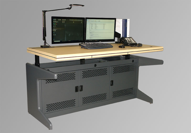 Sit/Stand Motorized Worksurface Option