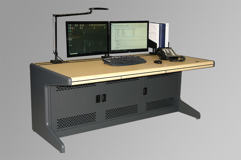 Ergonaut Metal Control Room Console with OMNI-RAIL