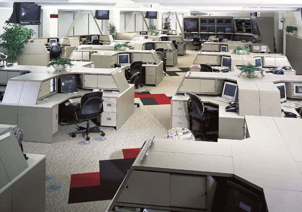 Call Center Furniture that maintains privacy while enhancing communications.